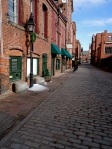 Original cobblestones on Wharf Street in the Old Port