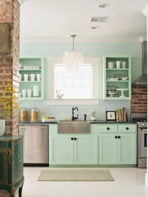 rustic-retro-kitchen-in-pale-mint-green-color-of-the-month-for-march-2012-gorgeous-green-home-decor-and-design-ideas