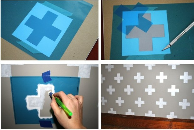 Hallway Stencil Process