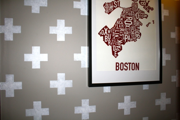 Boston Map in Hallway
