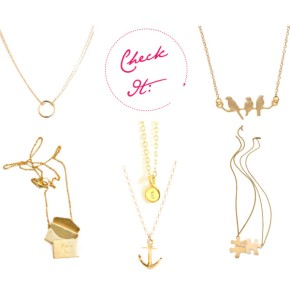 Tiny Gold Necklaces from The Loud and Clear