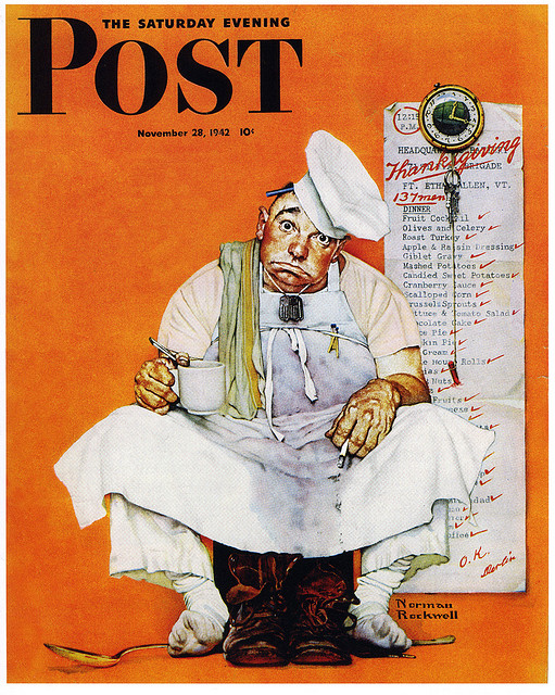Thanksgiving Blues by Norman Rockwell